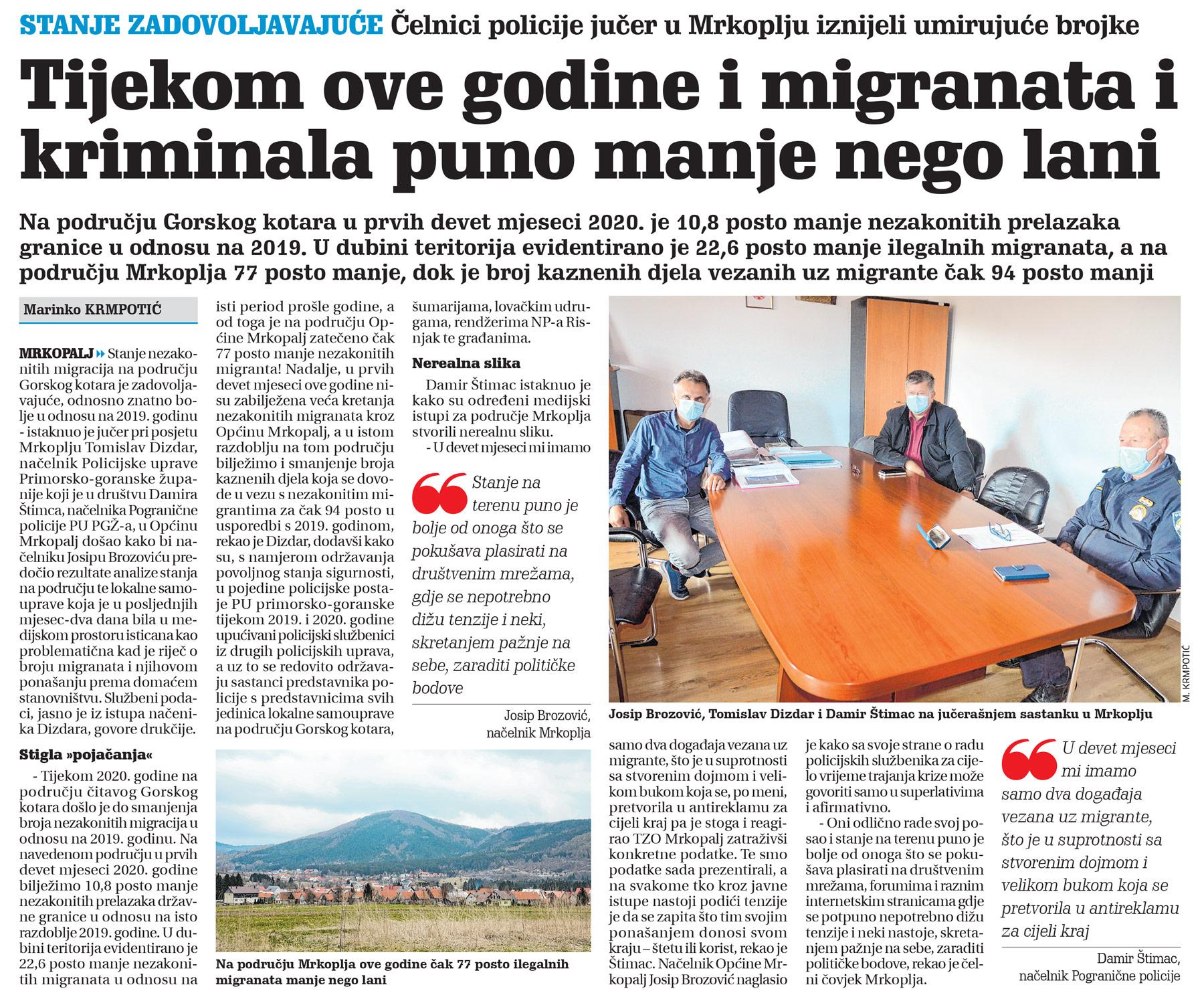 članak, novi list, policija, migranti, kriminal
