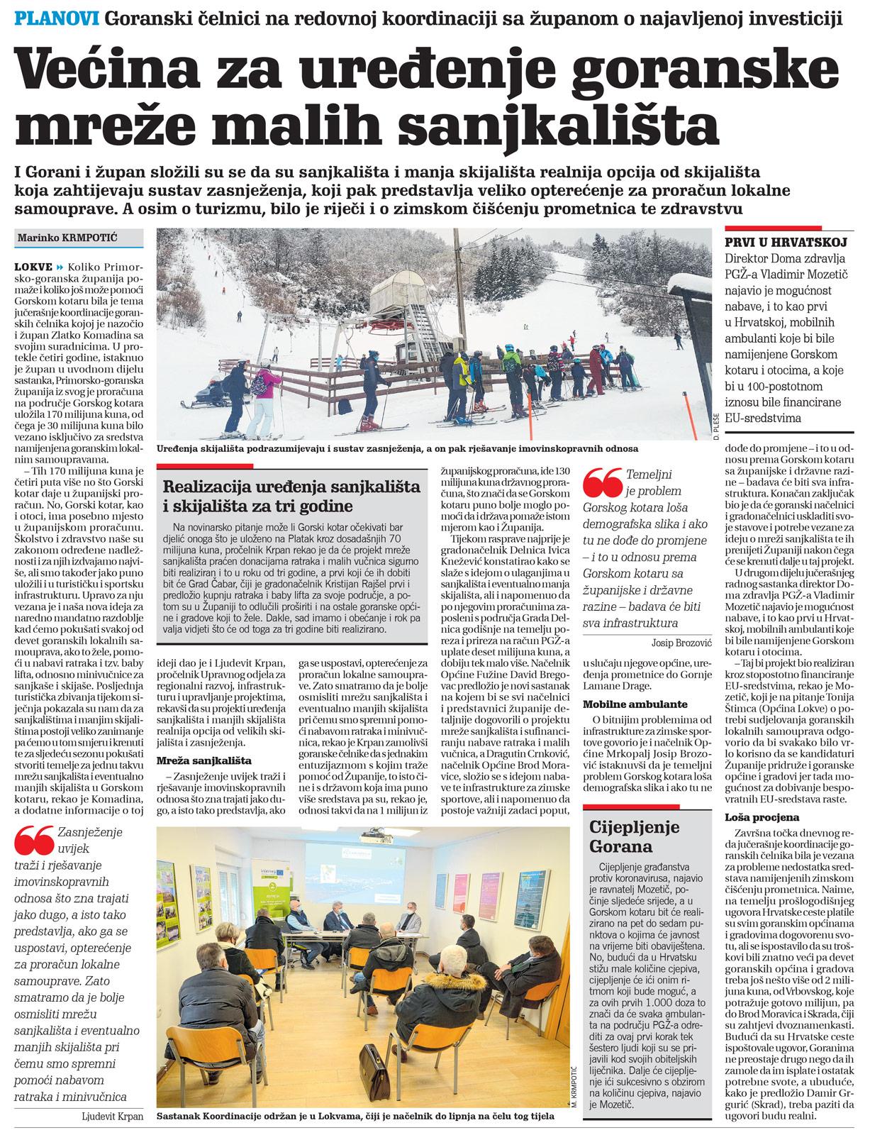 članak, novi list, skijališta