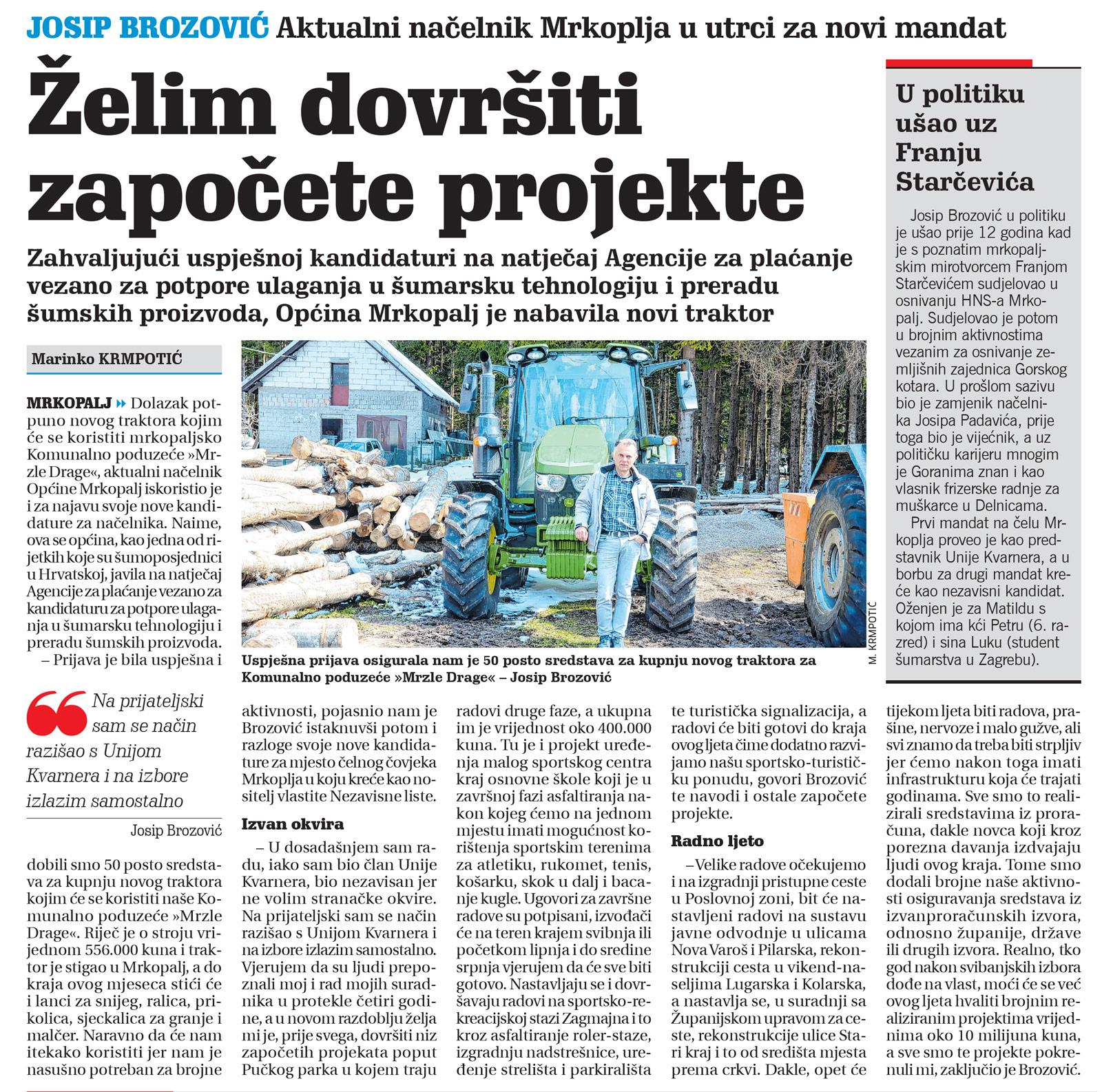 članak, novi list, josip brozović