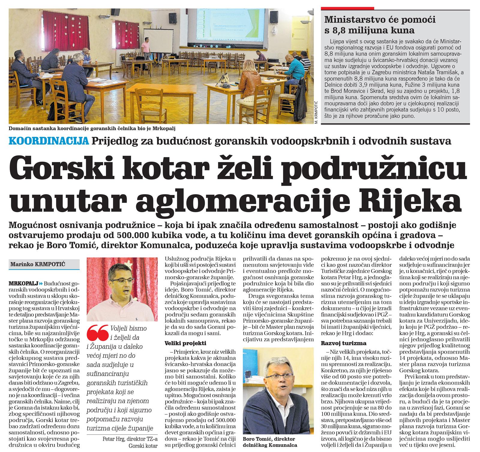članak, novi list, koordinacija načelnika